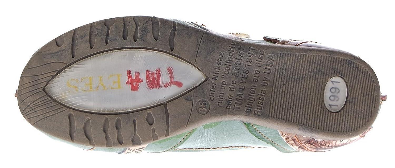 TMA Leder Damen Ballerinas Schwarz Echtleder Sandalen Comfort Schuhe TMA 5088 Slipper Gr. 36 a3yqYksKo