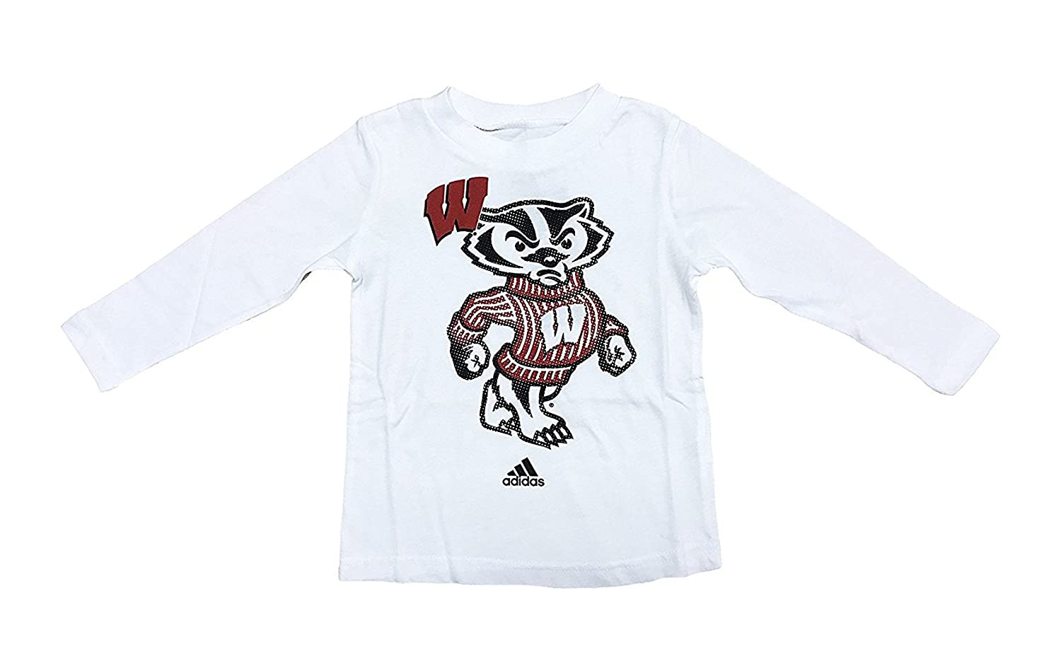 11e20d13540 Amazon.com  Wisconsin Badgers White Infants Mascot Graphic Logo T Shirt (18  Months)  Clothing