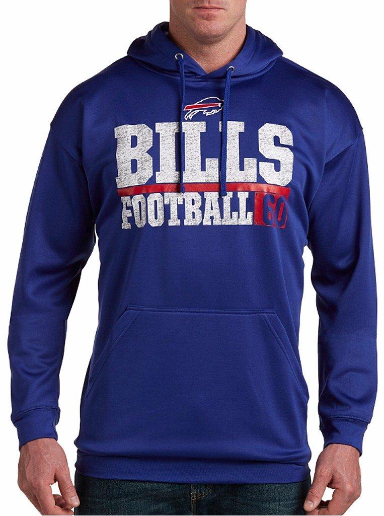 Buffalo Bills NFLマジェスティックメンズ1 Handedキャッチ合成ポリエステルパフォーマンスフリースパーカービッグトールサイズロイヤルブルー 4L  B01DEA7WQ2