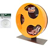 "Exotic Nutrition Silent Runner 12"" Regular - Durable Exercise Wheel + Cage Attachment Hardware - for Sugar Gliders…"