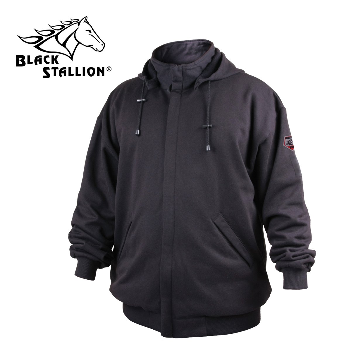 REVCO/BLACK STALLION JF1331-2XL Truguard Cotton Hooded Sweatshirt, Black by REVCO/BLACK STALLION