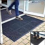 Anti-Fatigue Rubber Floor Mats for Kitchen Bar NEW Indoor Commercial Heavy Duty Floor Mat Black 36' x 60' Door Mat