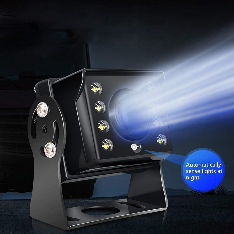zhiwenCZW IP68 wasserdichte staubdichte R/ückfahrkamera 170 /° Weitwinkel 640x480 6LED Vollfarb-Nachtsicht-R/ückfahrkamera f/ür SUV-Harvester