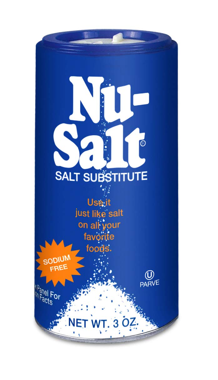 Nu Salt, 3-Ounce Shaker (12 Count) : Salt Substitutes : Grocery & Gourmet Food