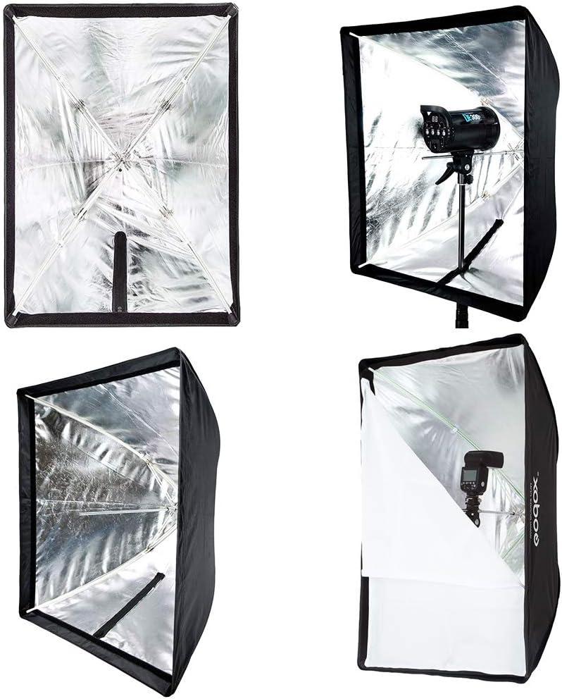 Godox 24 x 35// 60cm x 90cm Umbrella Rectangle Portable Softbox Reflector for Studio Photography Speedlite Flash 60X90cm Softbox