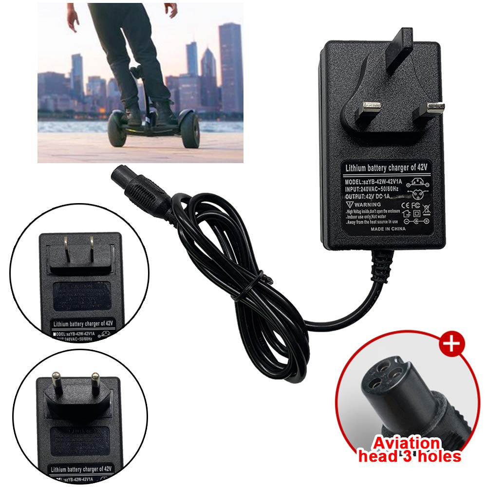 BEAUTOP Electric Scooter Battery Charger 42V 1A Mobility Scooter Battery Charger For Xiaomi UK Plug