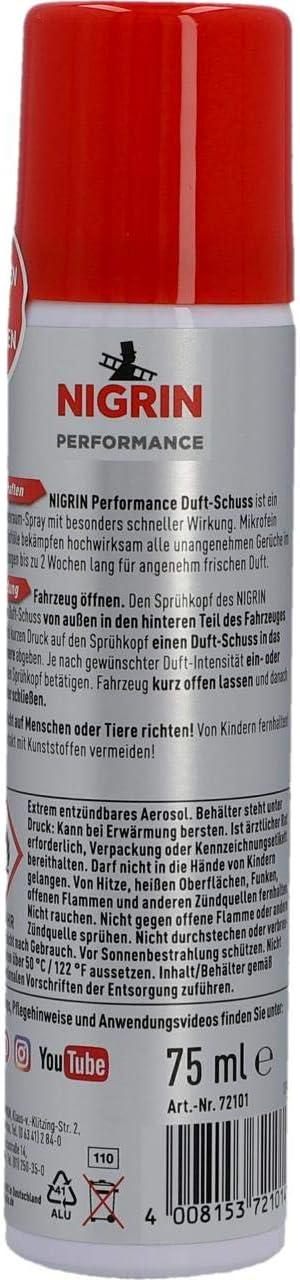 Nigrin 72101 Duft Schuss Cappuccino 75 Ml Auto