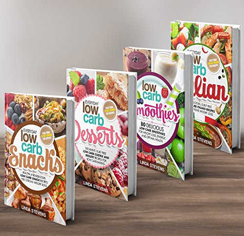 Low Carb Living Box Set: Low Carb Snacks, Low Carb Desserts, Low Carb Smoothies and Low Carb Italian Recipes ()