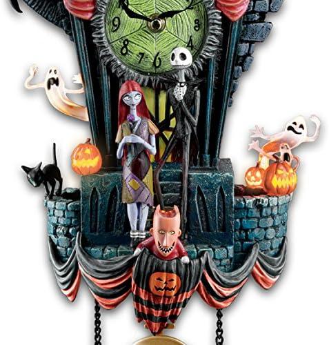 Bradford Exchange Disney The Nightmare Before Christmas Town Cuckoo Wall Clock