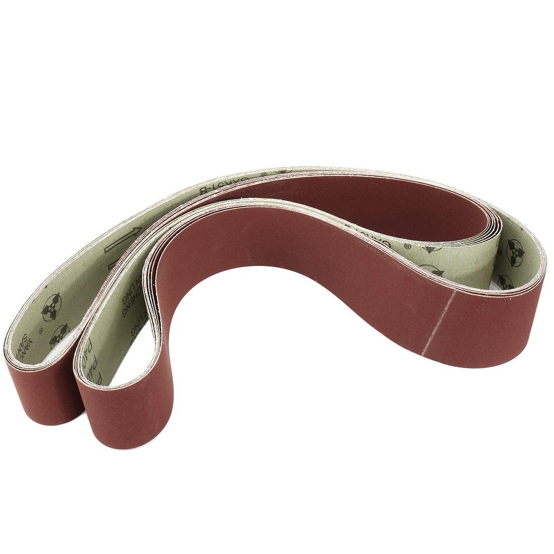 uxcell 2-Inch x 72-Inch 400 Grit Tape Butt Joint Aluminum Oxide Sanding Belt 6pcs
