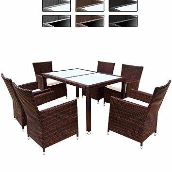 teure gartenmöbel metall miadomodo elegante 61 polyrattan aluminium sitzgarnitur rattan gartenmöbel set in der farbe ihrer wahl amazonde