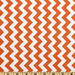 Riley Blake Designs Riley Blake Chevron Small Orange Fabric by The Yard, Orange