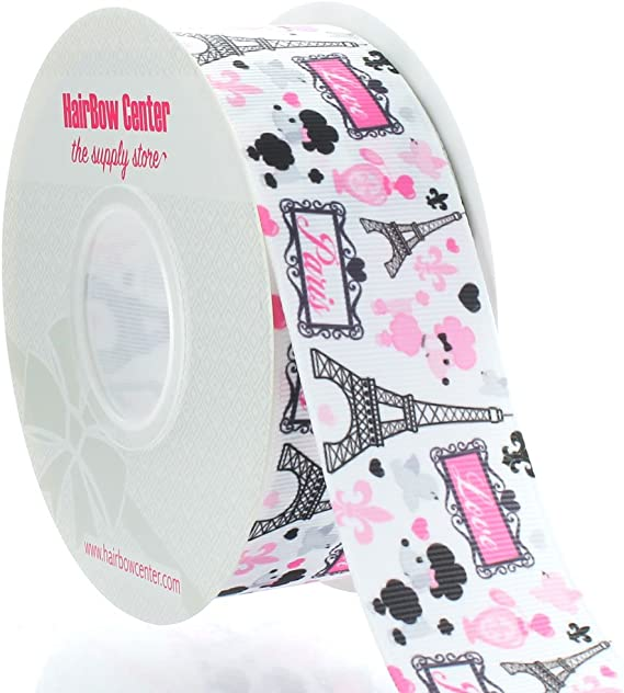 """PARIS 1/"""" By the Yard Ribbon Trim for Scrapbooking /& Hair Bow Making"""