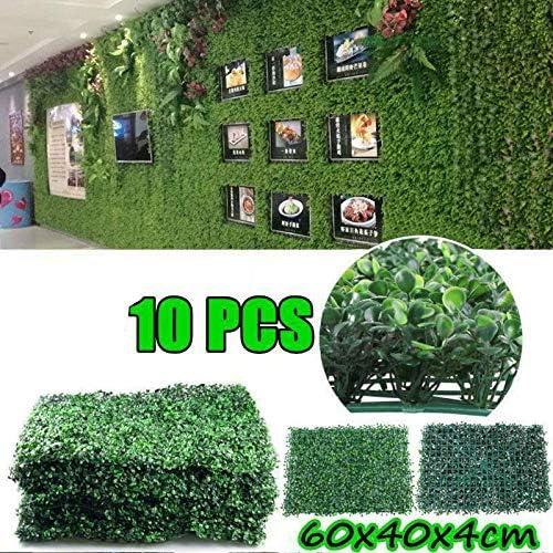 10PCS artificial Jardín de pantalla de cobertura Plantas de decoración del panel falso muro de telón de fondo: Amazon.es: Hogar