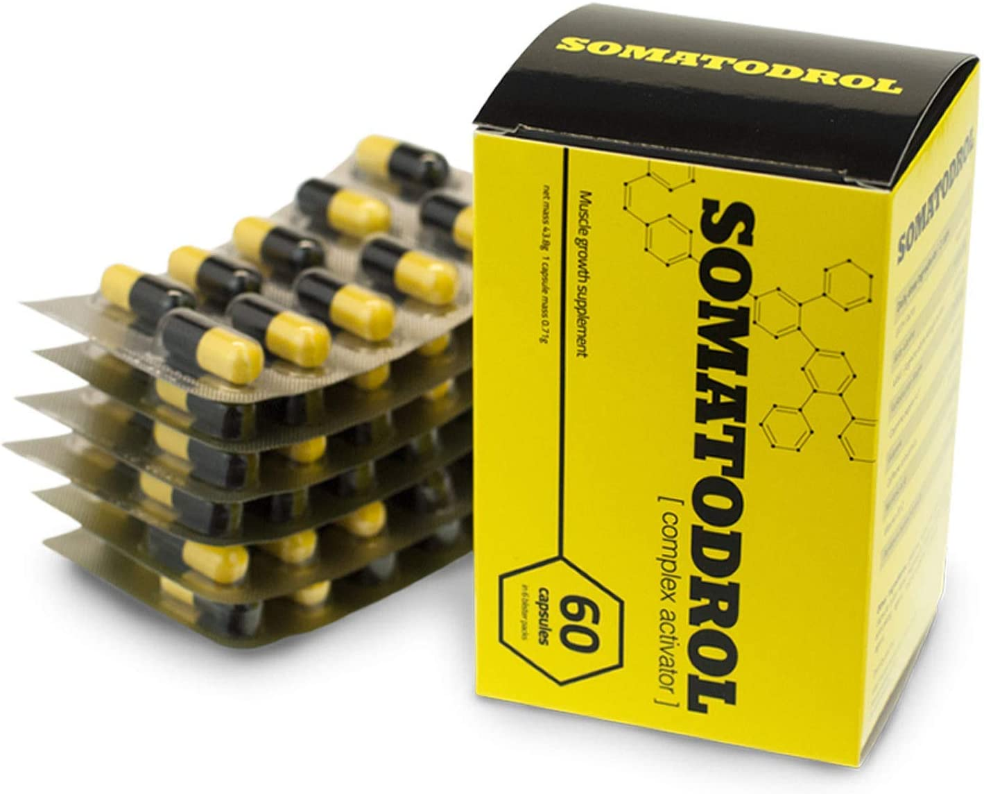 SOMATODROL Premium, aumenta los niveles de testosterona y hormona de crecimiento, rápido crecimiento muscular, rápida quema de grasa, sin esteroides, ¡sin efectos secundarios!