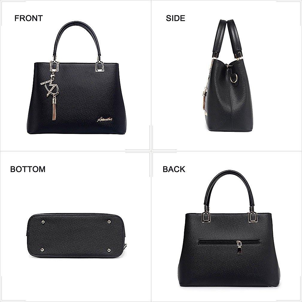 3b8c69f8fc56 Amazon.com  Womens Purses and Handbags Shoulder Bags Ladies Designer Top  Handle Satchel Tote Bag (Beige)  Shoes
