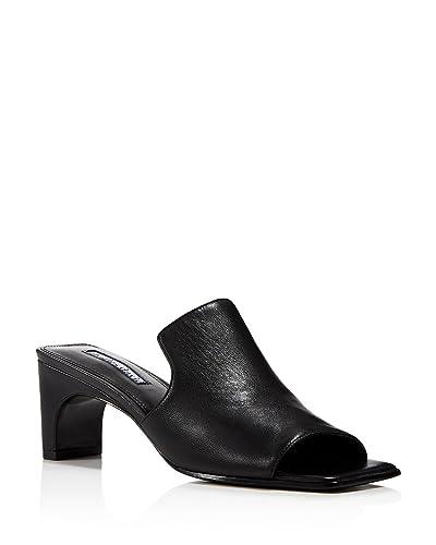 Charles David Women's Herald Leather Mid Heel Slide Sandals IkbCECr