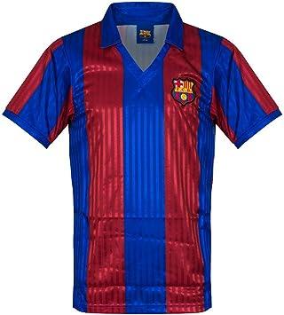 Score Draw - Camiseta oficial Retro 1992 Barcelona Home Retro, hombre, Multi Coloured, Small: Amazon.es: Deportes y aire libre