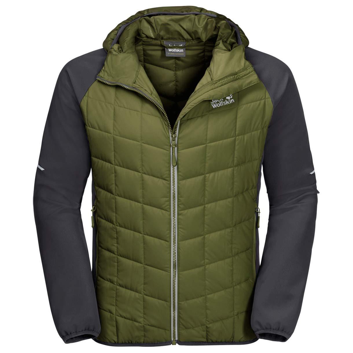 Jack Wolfskin Grassland Hybrid Hood Jacket Outdoor Jacke blue 1204281-1062