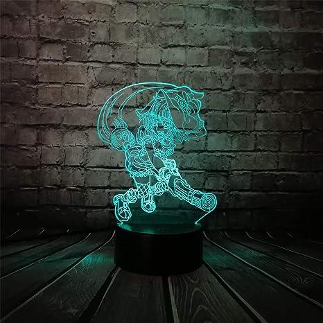 KangYD Lámpara escoba de dibujos animados Witcher 3D, LED ...