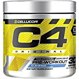 Cellucor C4 Original Pre Workout Powder Energy Drink w/Creatine, Nitric Oxide & Beta Alanine, Icy Blue Razz, 30 Servings