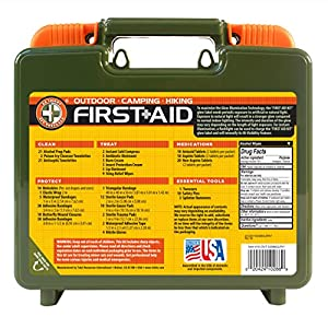 Be Smart Get Prepared 250 Piece Outdoor First Aid Kit - Office, Home, Car, School, Emergency, Survival, Camping, Hunting, and Sports