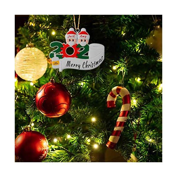 Sopravvissuto Famiglia Ornamento 2020 Quarantena Personalizzato Ornamenti di Natale Decorazioni per L'Albero di Natale Ornamenti Famiglia di Albero di Natale Ornamento Home Decor Regali di Natale 4 spesavip
