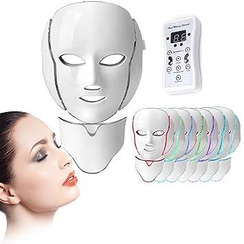 femme esthétique de luxe les mieux notés dernier Masque de luminothérapie à LED de 7 couleurs masque led ...