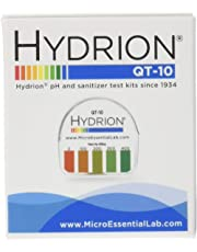 Micro Essential Laboratory QT-10 Plastic Hydrion Low Range Quat Check Test Paper Dispenser, Single Roll, Food Service Test Strips, 0 - 400ppm
