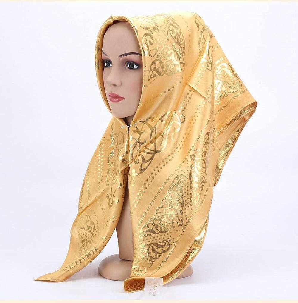 foulard jacquard foulard arrotondato Islam foulard hijab Scialle protezione solare donna sciarpa per regali di compleanno di Natale