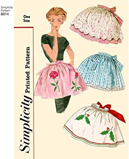 product image for Simplicity USOSPattern Misses' Vintage Aprons, Paper White, OS (ONE SIZE)