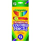 Triangular, Coloured Crayola Coloured Triangular Pencil 12 Pieces, (04212)