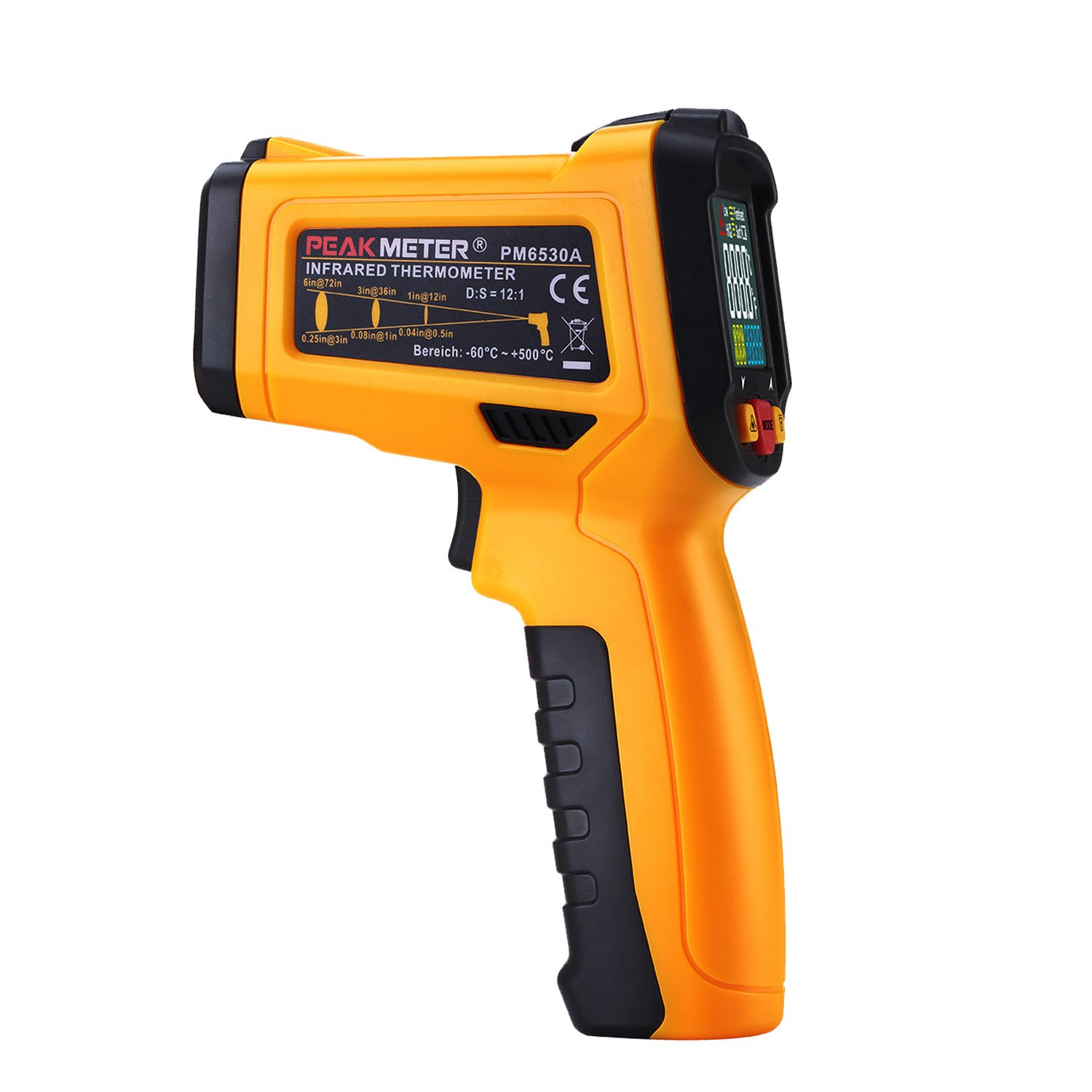 Digital Infrared thermometer Peakmeter PM6530A Laser IR Temperature Gun LCD for Kitchen Cooking Automotive with Temperature Bridge Alarm Function Display -58°F~572°F(-50°C~300°C) by uvcetech (Image #8)