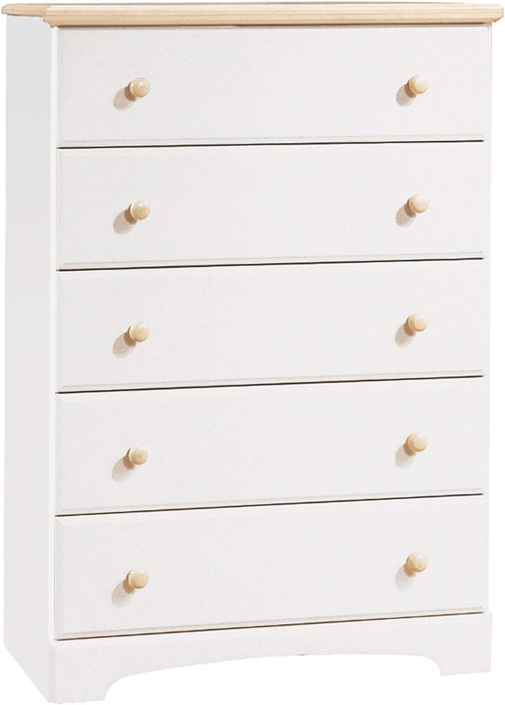 B0002A4NCO South Shore Summertime 5-Drawer Chest-Pure White, Maple 618F2B6jSVSL.SL1500_