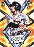 2017 Topps Fire #130 JaCoby Jones Detroit Tigers Rookie Baseball Card
