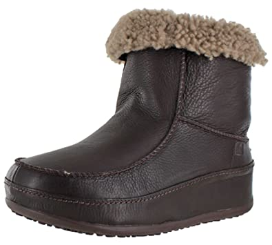 8825e85112c FitFlop Women s Mukluk Moc 2 Leather Ankle Boots Brown Size 8 ...