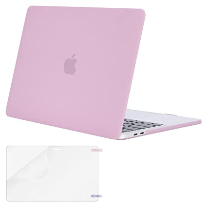 MOSISO MacBook Pro 13 Case 2018 2017 2016 Release A1989/A1706/A1708,  Plastic Hard Shell Cover with Screen Protector Compatible Newest MacBook  Pro 13