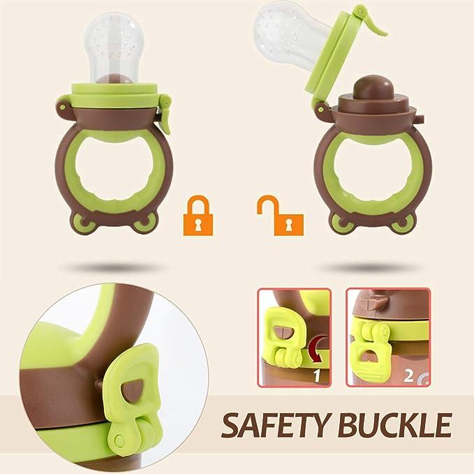 Alimentador de alimentos para bebés Alimentador de frutas Chupete Juguete de dentición infantil incluido 3 Chupete de silicona mordedor