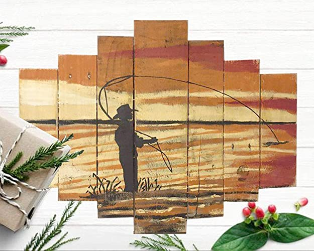 Amazon.com: Christmas Gift For Fisherman - Fishing Signs Wall Decor ...