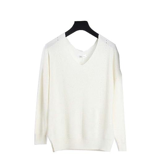 CHLXImujeres Cobertura Suéter Camisa De Imprimación Hilo Vacío De Gran Tamaño Suéter