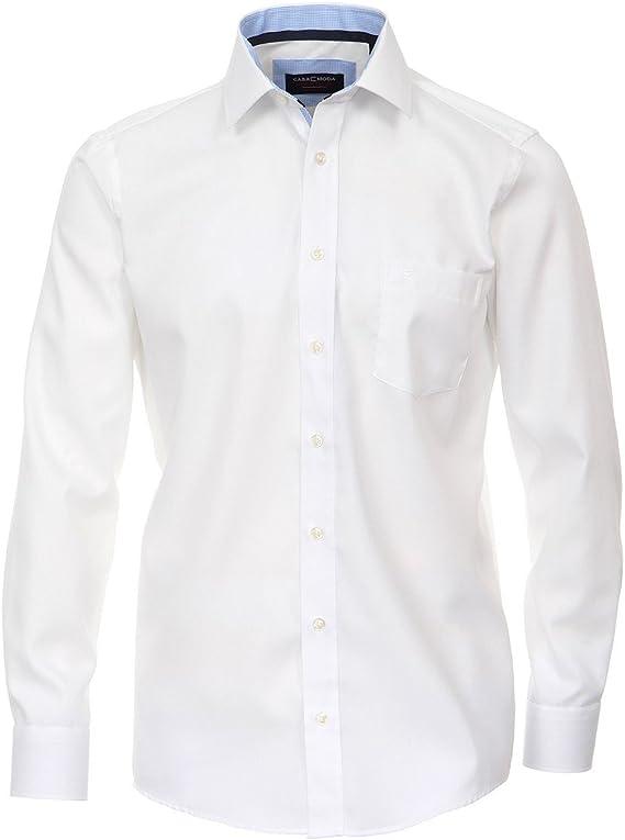 Casamoda Camisa estructurada sin Plancha Blanca Oversize, 45-57:47: Amazon.es: Ropa y accesorios