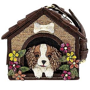 Mary Frances Ruff House Beaded Dog House Novelty Wristlet Handbag Purse, Multi