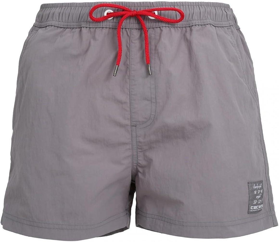 Gr/ö/ße:3XL 1er Pack Ceceba Herren Badeshorts Uni Farbe:Grey Medium Solid 820