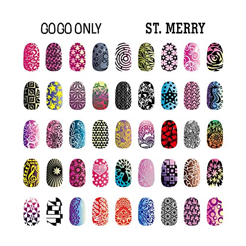 Amazon gogoonly nail art stamp plate collection st merry amazon gogoonly nail art stamp plate collection st merry huge size stamping image plates manicure nail designs diy bh000462 beauty prinsesfo Choice Image