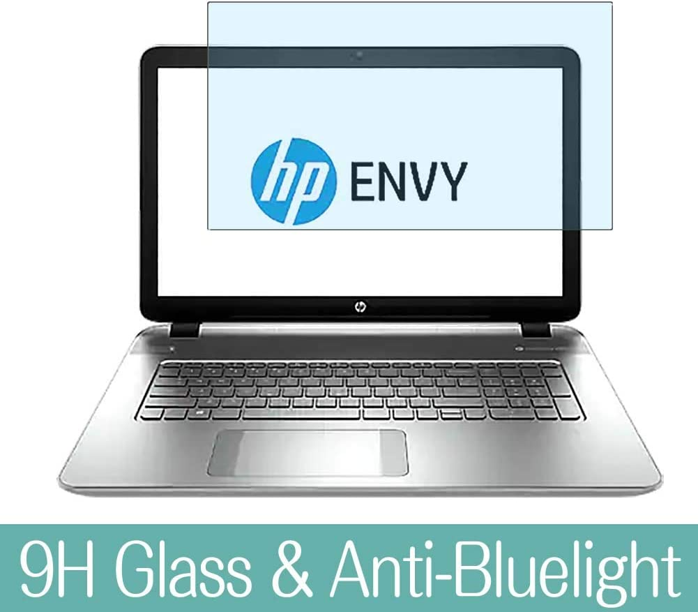 """Synvy Anti Blue Light Tempered Glass Screen Protector for HP Envy m7-k200 / k211dx 17.3"""" Visible Area 9H Protective Screen Film Protectors"""