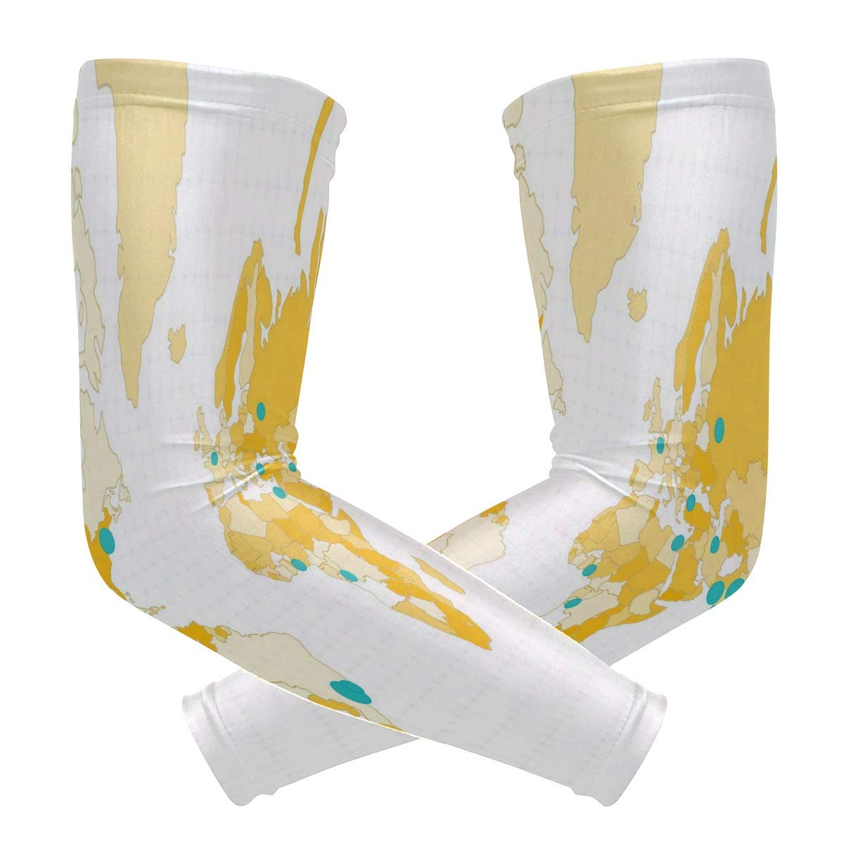 Arm Sleeves Cute Happy April Fools Day Mens Sun UV Protection Sleeves Arm Warmers Cool Long Set Covers 2