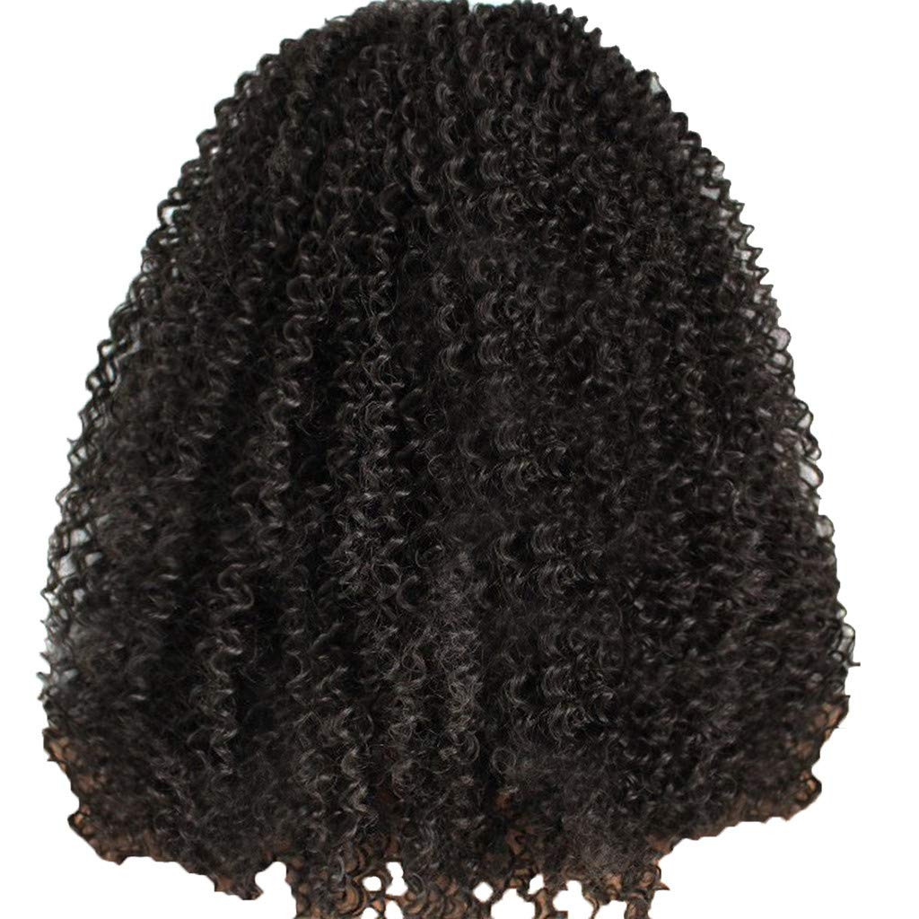 Wig,SUPPION Fashion Women's Front lace Wig Black Synthetic Hair Long Wigs Wave Curly Wig - Cosplay/Party/Costume/Carnival/Masquerade (A)