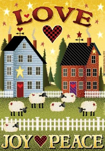 Jeremiah Junction Garden Flags, Love, Joy, Peace Shaker House