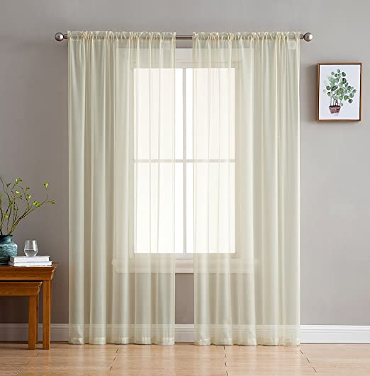 Amazon Com Hlc Me Beige Window Curtain Sheer Voile Panels For Small Windows Kitchen Living Room And Bedroom 54 X 54 Inches Long Set Of 2 Home Kitchen,Ikea Customer Service Usa Email