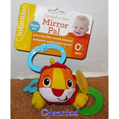 Infantino Squeak-a-Boo Mirror Pal - (Colors/Styles Vary): Arts, Crafts & Sewing